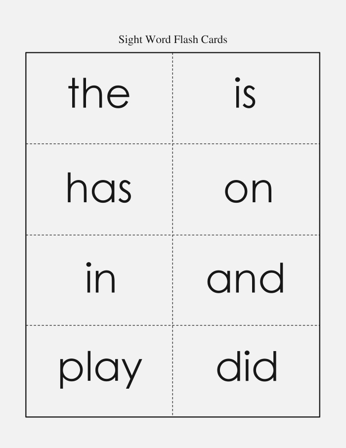 6 Best Of Fry Sight Word Flash Card Printables