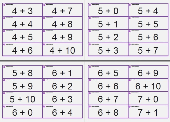 6 Best Of Printable Math Digit Cards Free