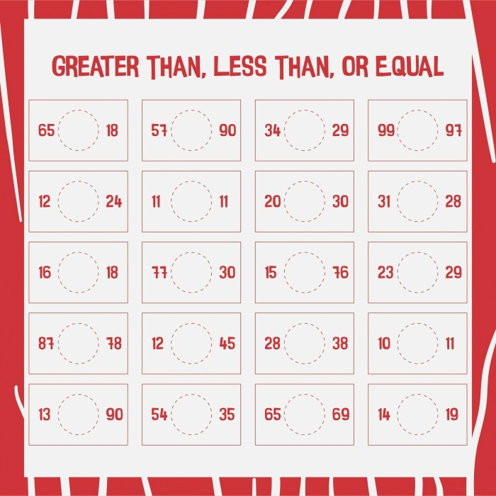 7 Best Of Greater Than Less Than Free Printable