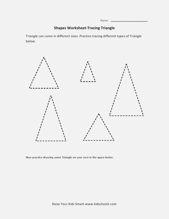 7 Best Of Triangle Worksheets for Preschool