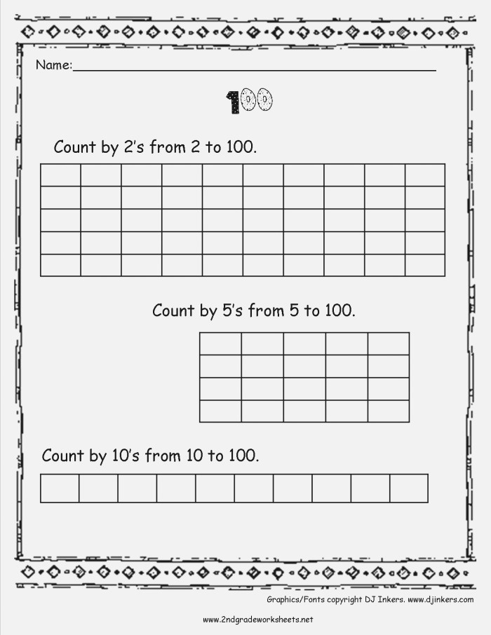 8 Best Of Worksheets Counting to 100 Skip