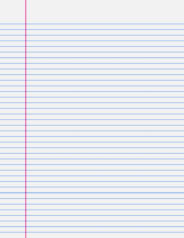 9 Best Of Printable Ruled Paper Printable Lined