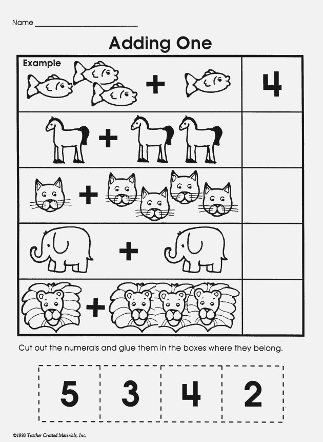 'adding E' is A Simple Printable Math Worksheet with