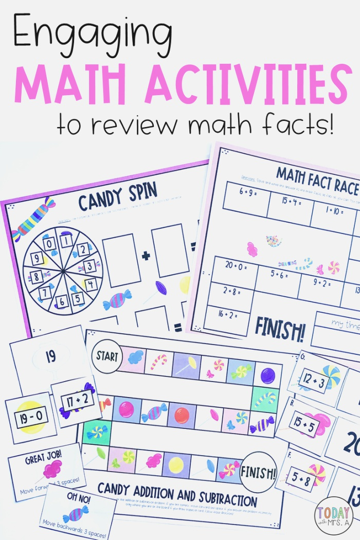 Addition and Subtraction Facts to 20 Activities Games and