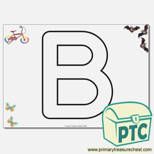 B Bubble Letters formation Activity with