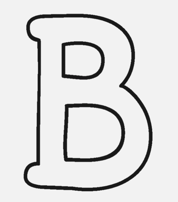 B Uppercase Alphabet Coloring Pages