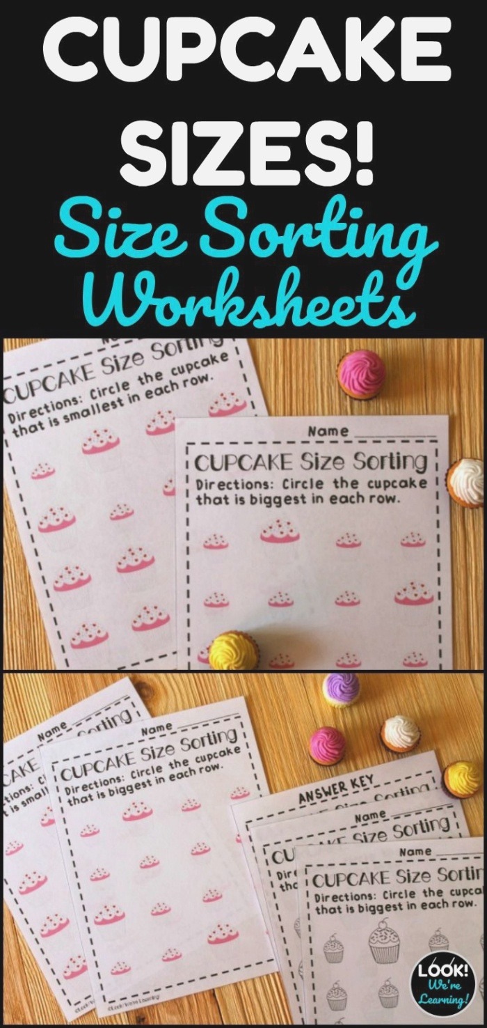 Big and Small Worksheets Cupcake Sizes In 2020