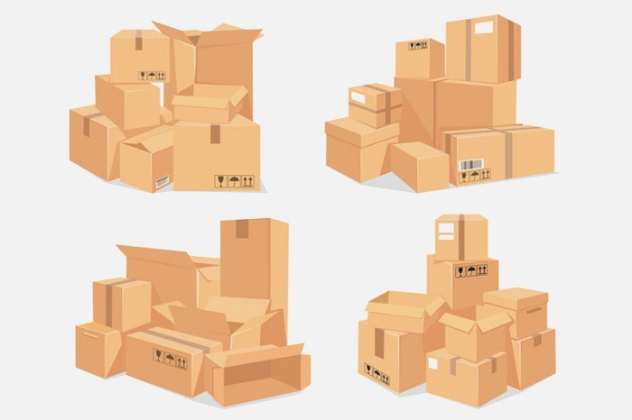 Carton Box Stack Big Pile Of Delivery Brown Cardboard