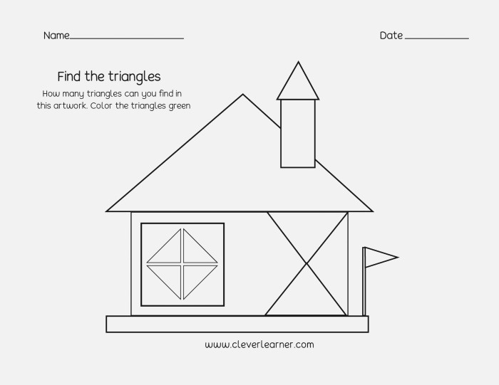 Circle Square Triangle Rectangle Worksheet
