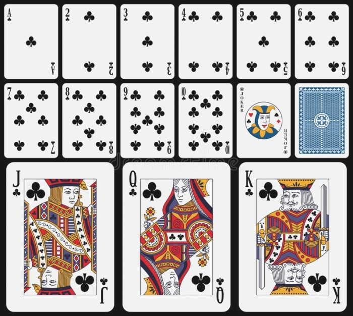 Classic Playing Cards Clubs Classic Playing Cards You