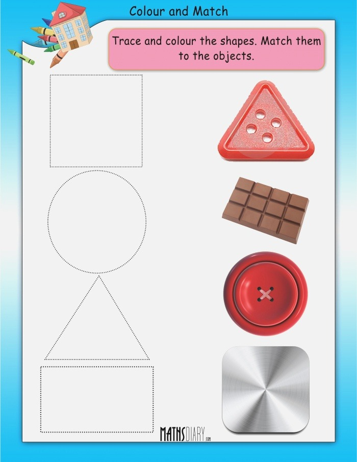 Colour and Match Math Worksheets Mathsdiary