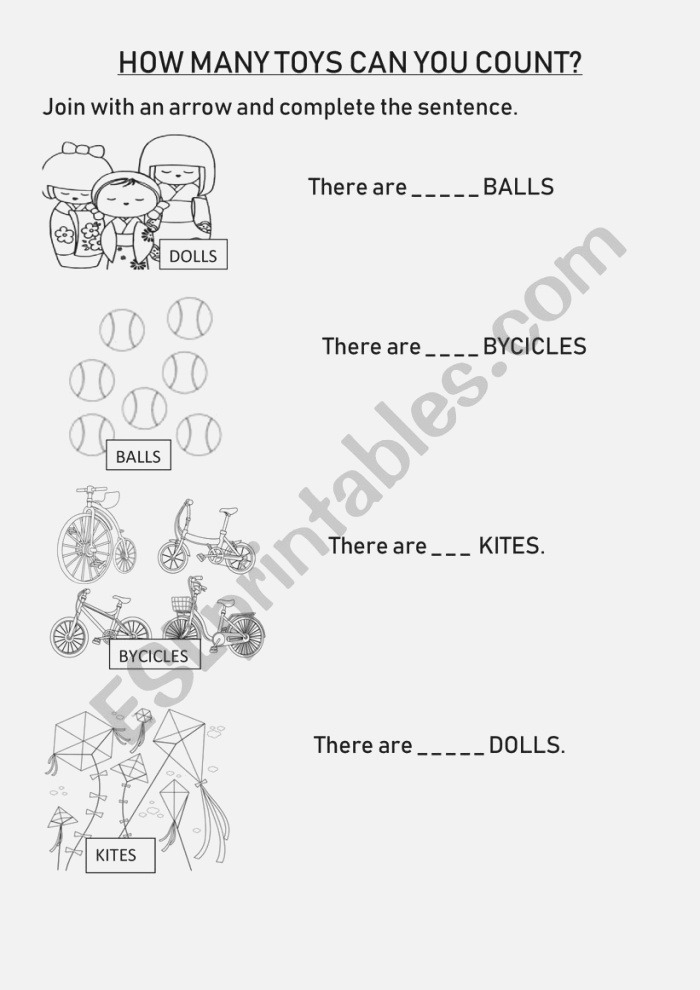 Counting toys Esl Worksheet by Beflo