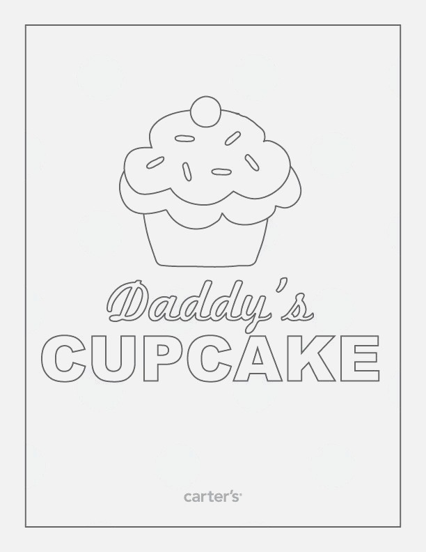Daddy S Cupcake Color Sheet