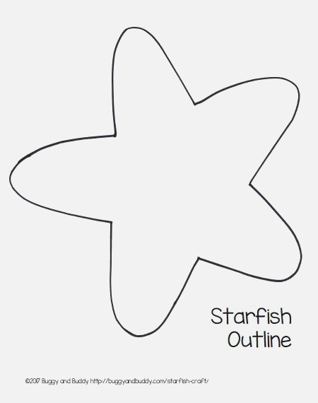 Easy Starfish Craft for Kids with Free Printable Template