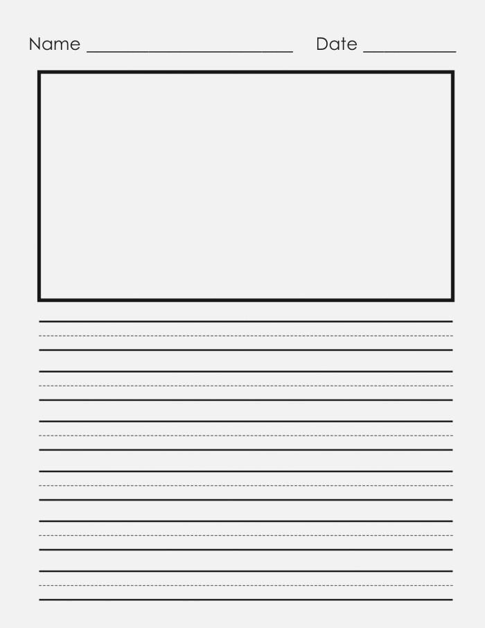 Elementary Lined Writing Paper Worksheets