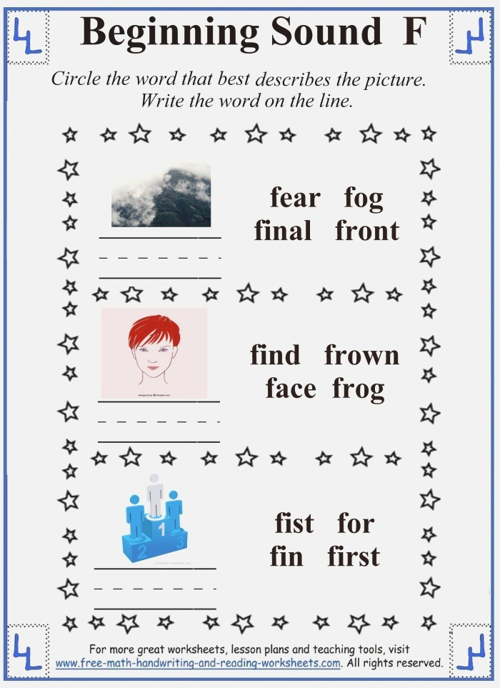 F Letter Activities & Worksheets