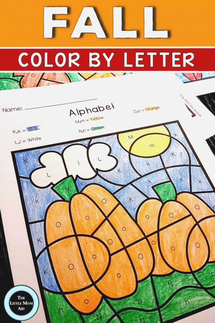 Fall Color by Letter Alphabet Practice