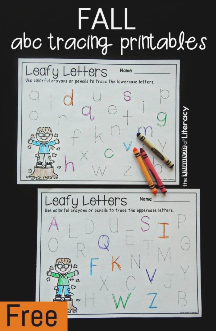 Fall Letter Tracing Printables