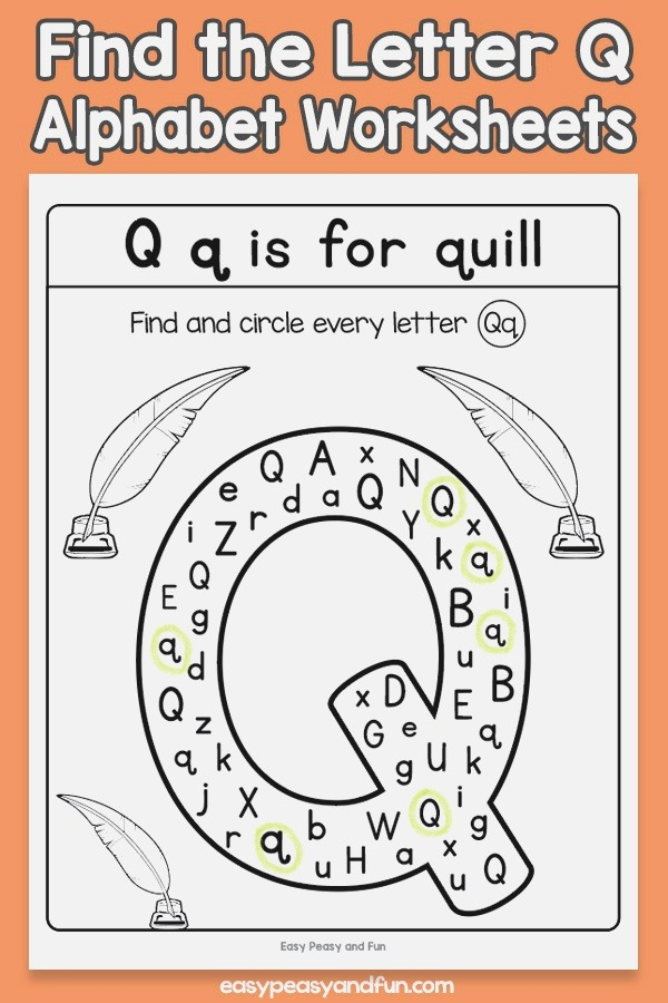 Find the Letter Q Worksheets – Easy Peasy and Fun Membership