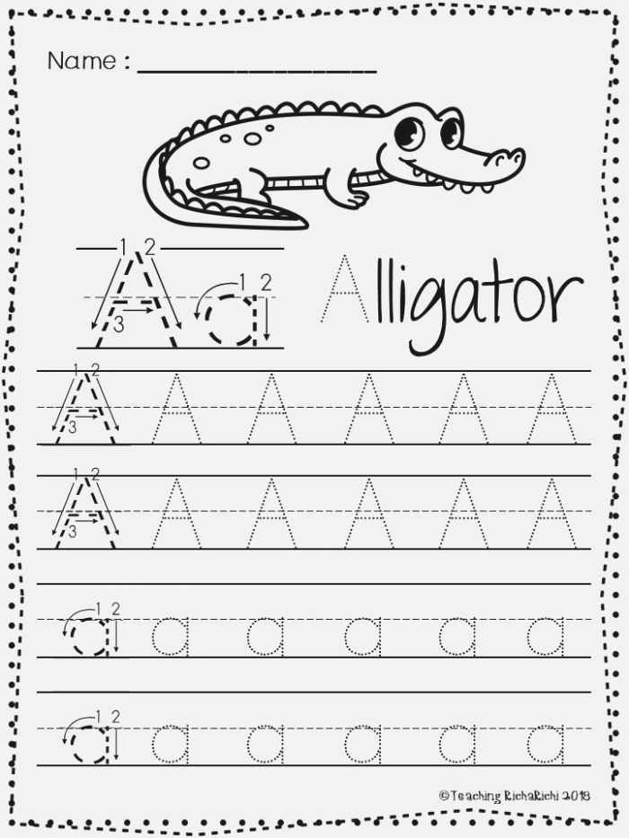 Free Abc Tracing Worksheets Alphabet A Z Upper and Lower