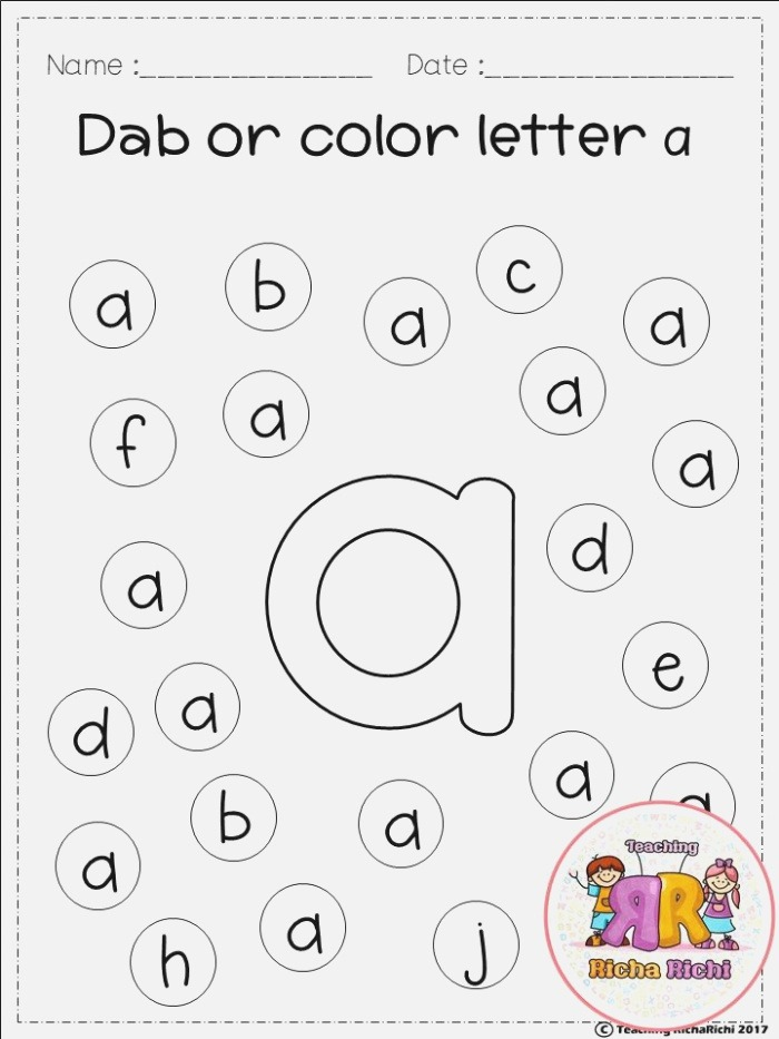 Free Freebies Alphabet Dap A Z 26 Pages for Prek and