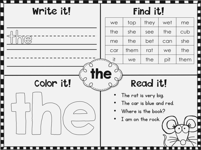Fry Sight Words First 100 Printables