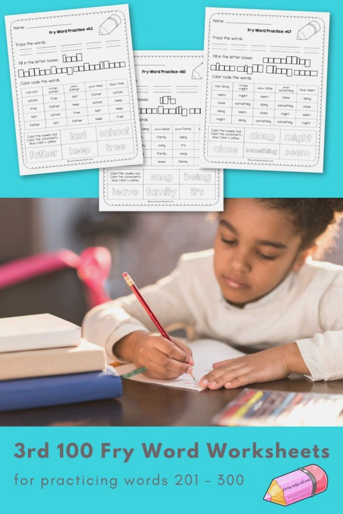 Fry Word Practice Pages Words 201 300 Free Word Work