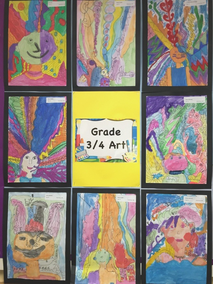 Grade 3 4 Self Portraits A Great Way for Our Students to