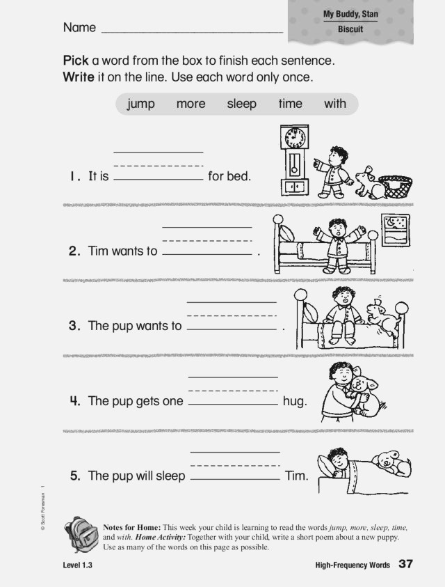 High Frequency Words Jump More Sleep Time with