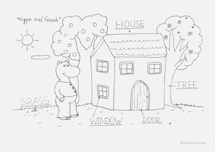 Hippo S House English Esl Worksheets for Distance