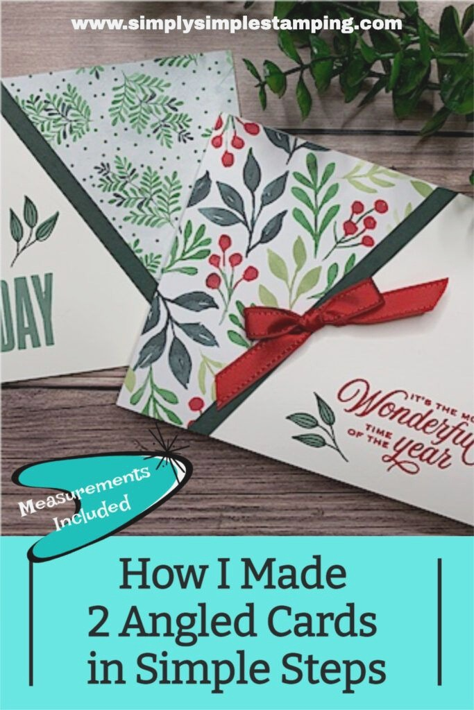 How I Made 2 Angled Cards In Simple Steps