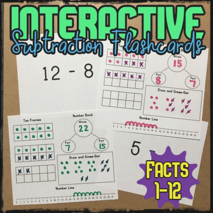 Interactive Subtraction Flashcards In 2020