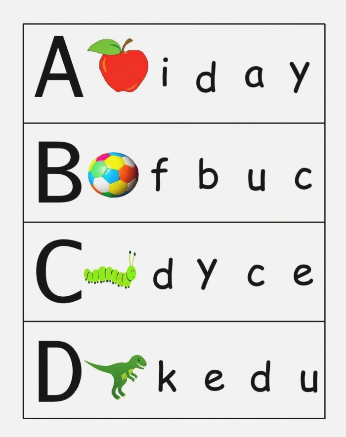 Matching Alphabet Letters Worksheets