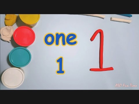 Learn Numbers with Playdoh 1 to 10 E Two Three