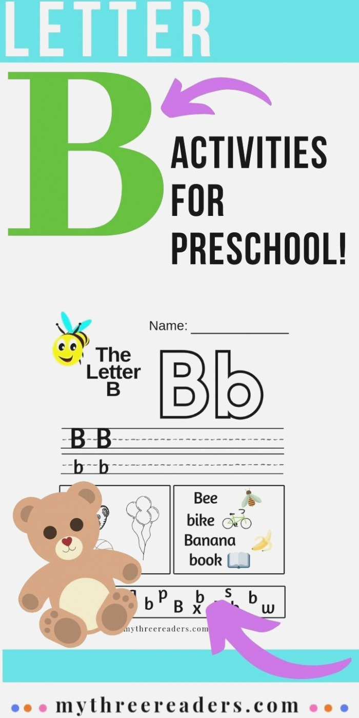 Letter B Worksheets Crafts Activites & Things to Do to