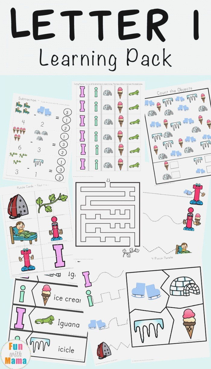 Letter I Worksheets Activities for Preschool Fun with Mama
