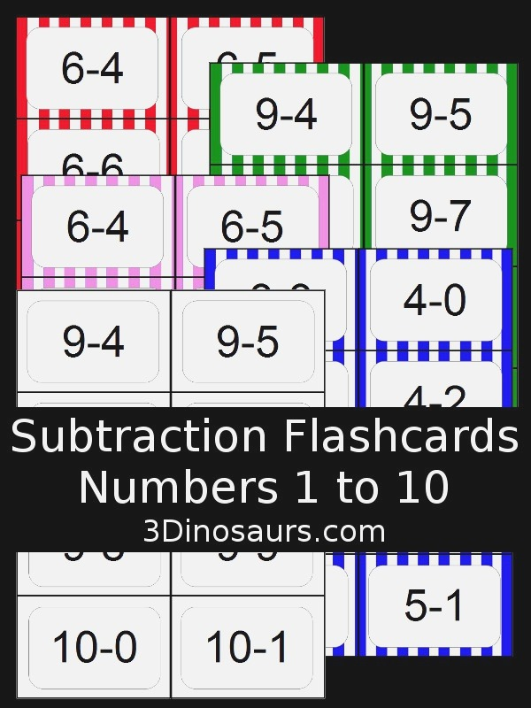 More Ways to Add & Subtraction Flash Cards