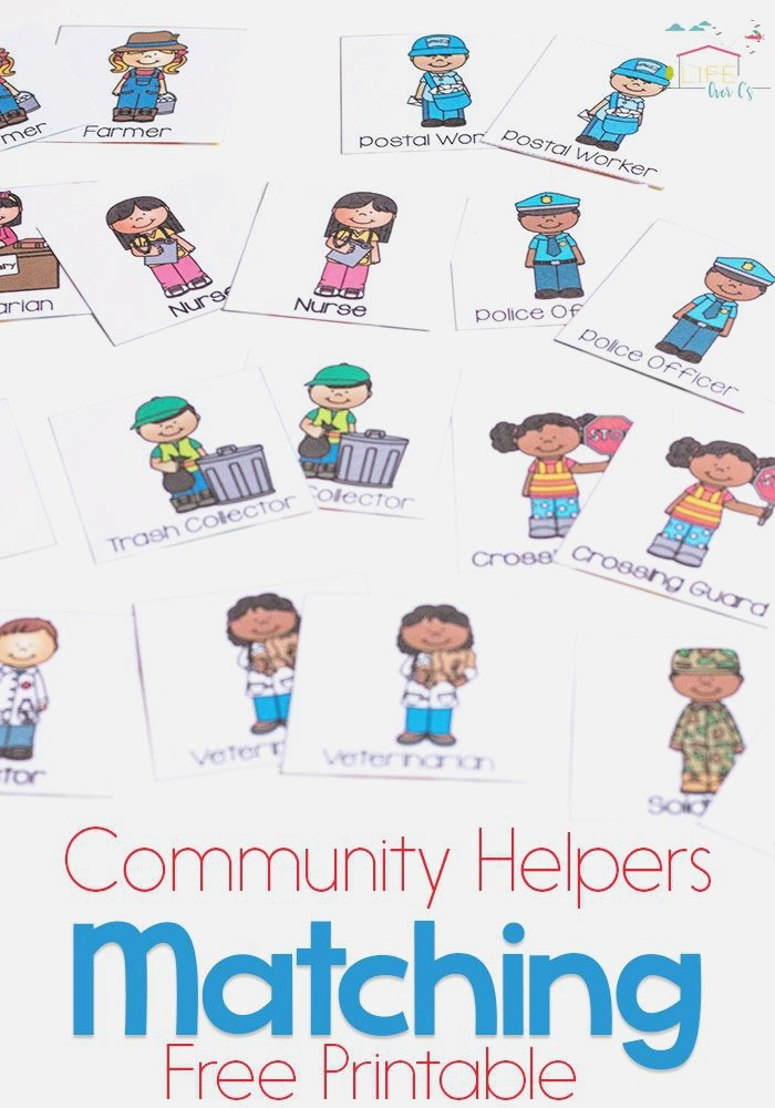 Munity Helpers Matching Game