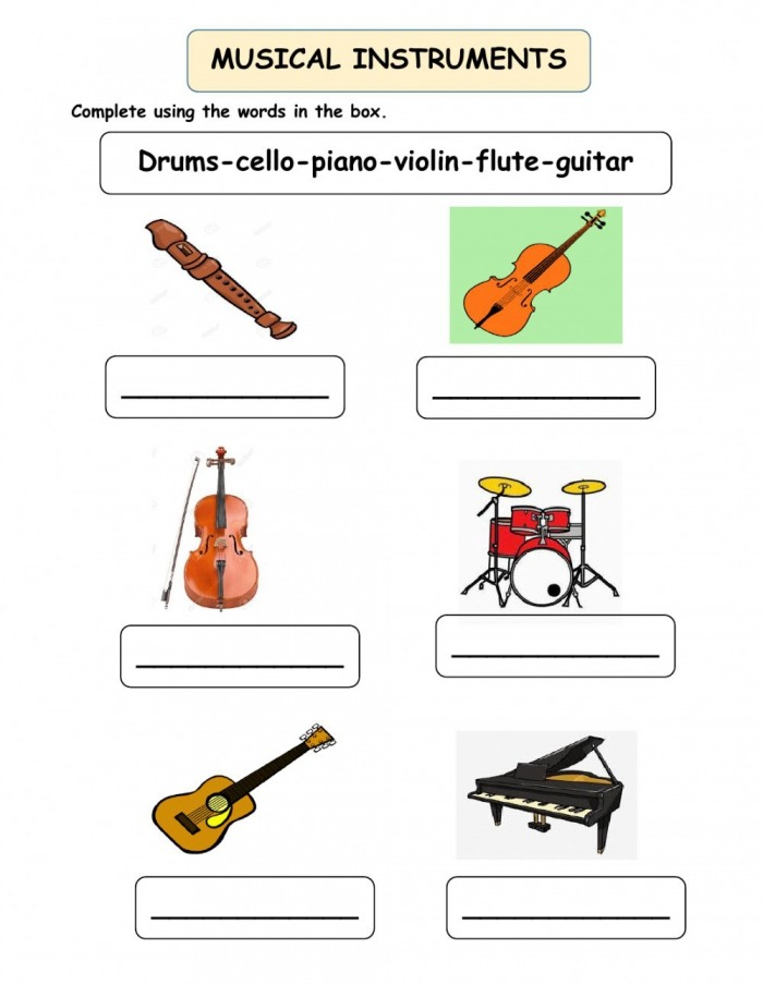 Musical Instruments Online Pdf Exercise For Primaria