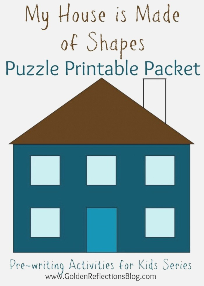 My House is Made Shapes Puzzle Printable Packet Pre