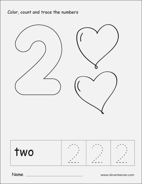Number Two Writing Counting and Recognition Activities
