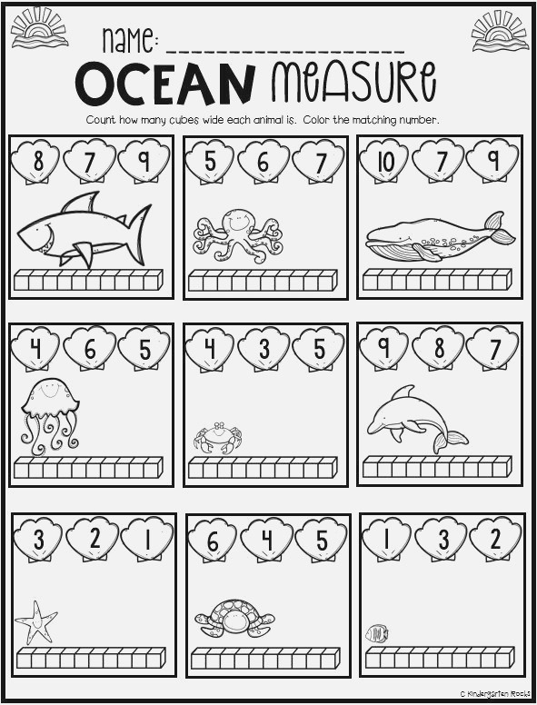 Ocean Math and Literacy Worksheets for Preschool is A No