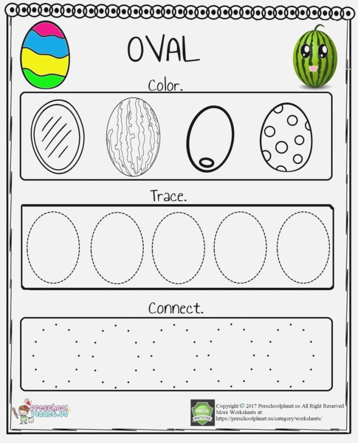 Picture Of Oval Worksheets