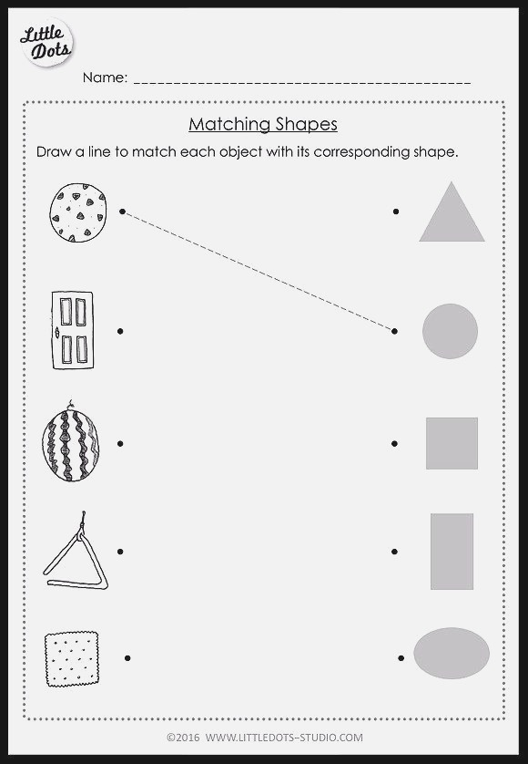 Pre K Math Shapes Worksheets and Activities