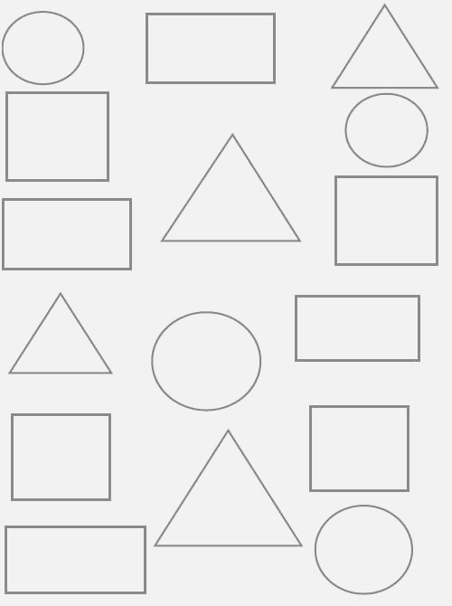 Circle Triangle Square Rectangle Worksheets