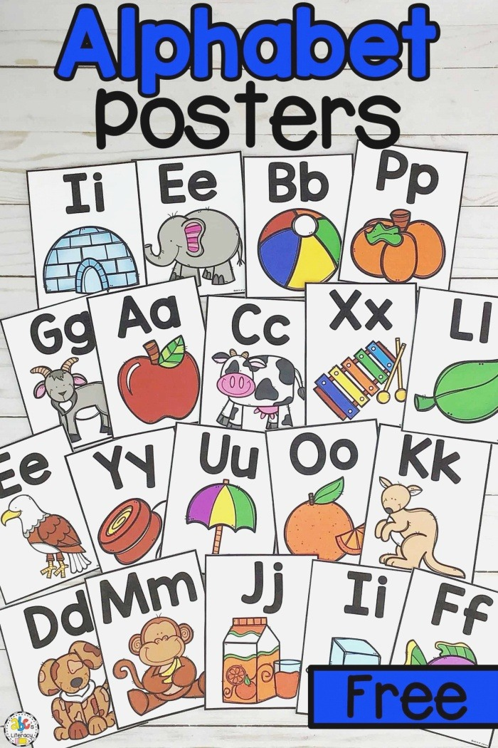 Printable Alphabet Posters Letter Knowledge Resource