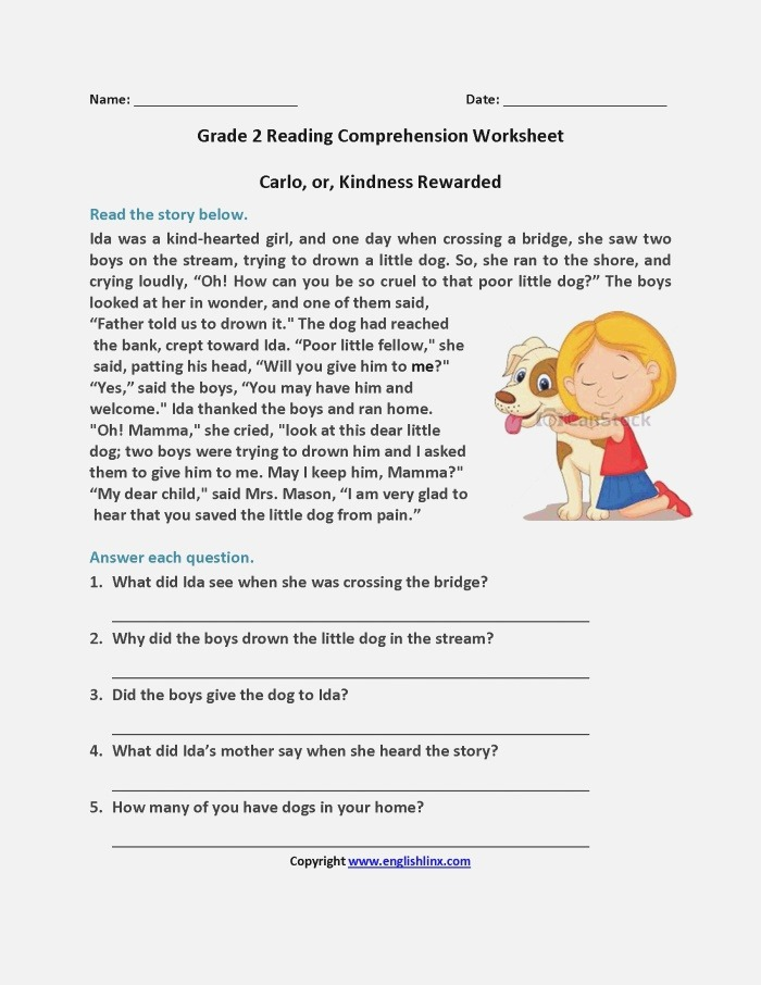 Short Stories Wh Questions Answers Worksheet Free Esl