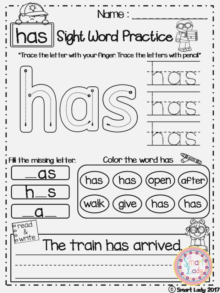 Sight Word Practice Set 2 First Grade Inside You Will
