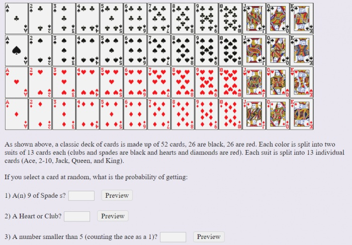 solved as Shown A Classic Deck Cards is Made Up