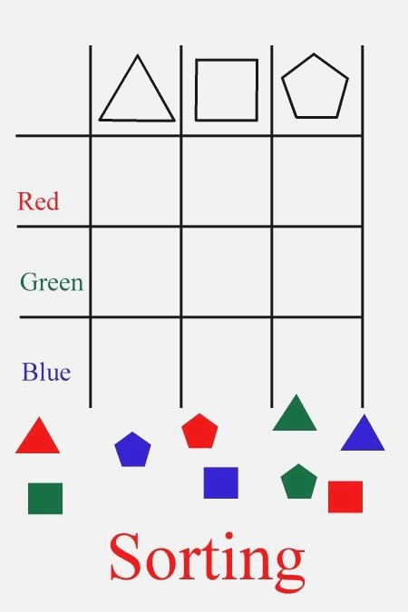 sort Shapes by Color